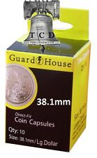 10 Peace Silver Dollar Coin Capsule Direct Fit GUARDHOUSE Holder 38.1mm Case #1