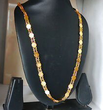 Goldplated Necklace Earring Set Traditional  Women Happy Eid Gift Jewelry  h37