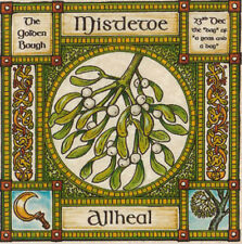 MISTLETOE TREE GREETING CARD 23rd Dec CELTIC PAGAN Birthday OGHAM WICCAN