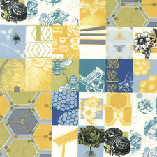 BEE MY HONEY~GOLD~SQUARES~HIVE~BY 1/2 YD~MODA FABRIC~11620-12~MARY JANE BUTTERS
