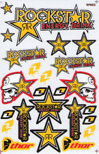 New Rockstar Energy Motocross ATV Enduro Racing Graphic stickers/decals. (st97)