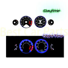 BLACK 94-95 Honda Accord l4 MT/AT INDIGLO GLOW BLUE/WHITE EL REVERSE GAUGES