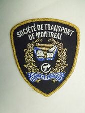 Vintage Societe De Transport De Montreal Iron On Patch - Bus Rail Gold Thread