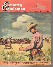 1942 Country Gentleman Cover - Round-up time in Texas by Georges Schreibner
