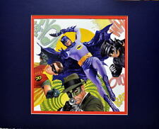 GREEN HORNET KATO BATMAN & ROBIN PRINT PROFESSIONALLY MATTED Alex Ross art