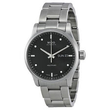 Mido Multifort Automatic Black Dial  Stainless Steel Mens Watch M0058301105100