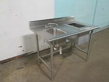 """""""ADVANCE TABCO"""" S.S. SERVER'S SERVICE COUNTER w/WASH SINK, FAUCET & ICE-BIN"""
