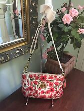 Coach Bag Poppy Red Floral Hippie Cross body Bag 48940 B4