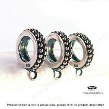European 925 Sterling Silver Beads Charm Holder F236- 3 pcs