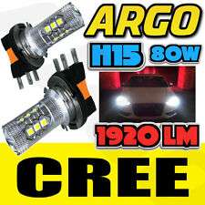 VW T5 SPORTLINE CARAVELLE 2010-14 H15 CREE DRL HEADLIGHT UPGRADE BULBS WHITE COB