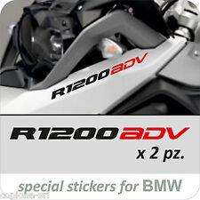2 Adesivi Serbatoio Moto BMW R 1200 gs ADV adventure LC bicolore