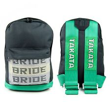 Bride Takata Racing Backpack Racing Straps JDM Drift Bag GREEN UK STOCK