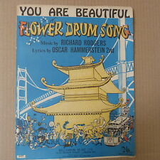 "song sheet YOU ARE BEAUTIFUL ""flower drum song"" Rodgers Hammerstein 1958"