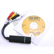 New EasyCAP USB 2.0 DC60+ Video Adapter with Audio Connector Capture w/ CD-ROM
