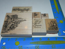 Stampin Up Water Mill Retired Stamp Set 6 Watermill Floral Birds Butterfly