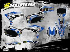 SCRUB Yamaha graphics decals kit WRF 450 2012 - 2015 stickers WR450f '12-'15