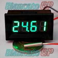 MINI TERMOMETRO DIGITALE da PANNELLO LED VERDE -200~450℃ PT100 auto moto camper