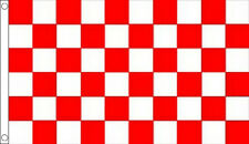 3' x 2' RED and WHITE CHECK FLAG Chequered Checked