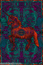 3D Psychedelic Unicorn Tapestry 60x90 Inches Wall Hanging - FREE 3-D GLASSES
