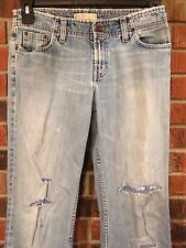 Buckle BKE Blue Jean Denim Pants 30in Waist Patches & Stitching Light Fade