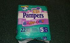 Vintage Pampers Balloon Bear Diapers XL Size 5  Brand New Sealed Plastic Backed