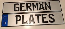 Pressed Metal German Show Number Plate Front Single Embossed D Logo vw dub bmw