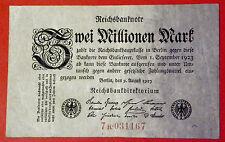 M35 GERMANY 2 MILLION MARK 1923, VF++