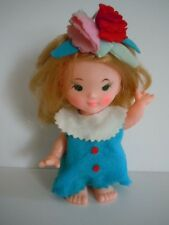 """RARE VINTAGE KAMAR DOLL MADE IN JAPAN : TANI """" THE FLOWER GIRL VERY CLEAN & MINT"""