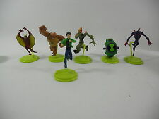 SET 6 Figure BEN TEN 10 Alien Force OMNITRIX POD Omosauro Pinna Fango Cromo NEW