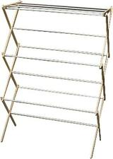 NEW MADISON MILL 11 WOODEN FOLDING CLOTHES LAUNDRY DRYING RACK SALE USA 0938720