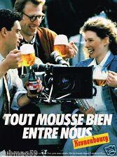 Publicité advertising 1986 La Bière Kronenbourg