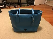 NWT New Coach Peanuts Snoopy Taxi Tote Saddle 36439 Limited Edition Blue