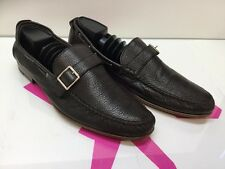 MEN'S BALLY DARK BROWN LEATHER LOAFER DRIVING SHOES SIZE US 12