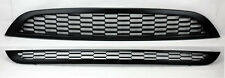Mini Cooper 02-06 Front Hood & Bumper Matte Black 2pc Grills Grill Top Bottom