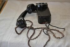 Vintage Automatic Electric Black Rotery Dial Wall Phone (Monophone)