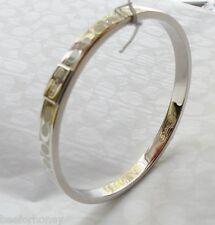 """NWT Coach 96857 Signature Bangle Bracelet White Enamel Think 1/4"""""""