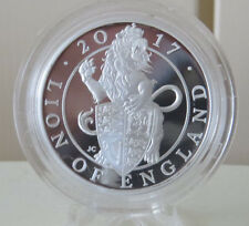2017 The Queen's Beasts IL LEONE DELL' INGHILTERRA 1 OZ ARGENTO PROOF MEDAGLIA ROYAL MINT