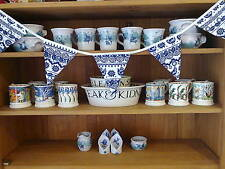 HANDMADE BUNTING WITH EMMA BRIDGEWATER BLUE HEN AND BORDER COTTON DUCK FABRIC