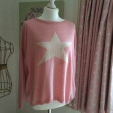 Pink Cashmere Jumper with Star Emblem