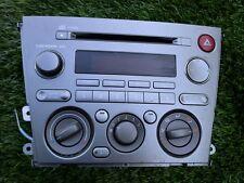 2006 SUBARU OUTBACK AM/FM RADIO CD PLAYER W/HEAT CONTROL UNIT OEM