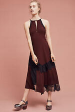 NWT Anthropologie Janie Halter Dress by Moulinette Soeurs 14 Wine Lace NEW
