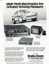 1989 Porsche 911 Radio Shack - Original Advertisement Car Print Ad J500