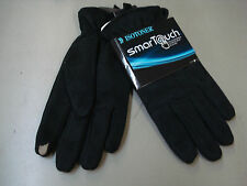 NWT Men's Isotoner Smartouch Touchscreen Compatible Gloves Size Medium Black