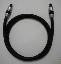 Monster Cable Digital Optical Audio Cable Braided Black Toslink 46.5""