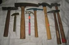 Vintage Batch of Eight Hammers – Claw, Picks, Ball Peen, Tack, Brass