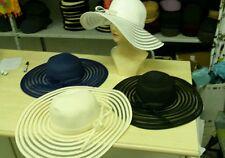 cappello bianco elegante cerimonia taglia unica  paglia hat cocktail donna mare