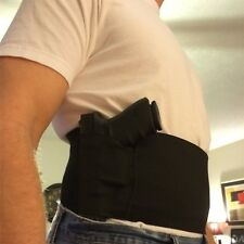 Elastic Band Waist Gun Holster With Double Magazine Pouches Gun Hunting Bag Belt