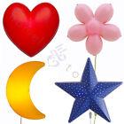 Ikea Children Kids Light Wall Mounted Lights Star Moon Heart Flower Home Decor