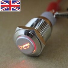 16mm 12V LED Momentary Push Button Metal Switch Car Boat Speakers Bells Horn