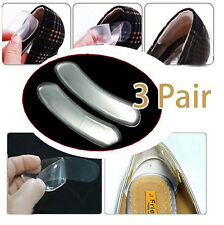 3Pairs Silicone Back Heel Liner Gel Cushion Pads Insole High Dance Shoes Grip JP